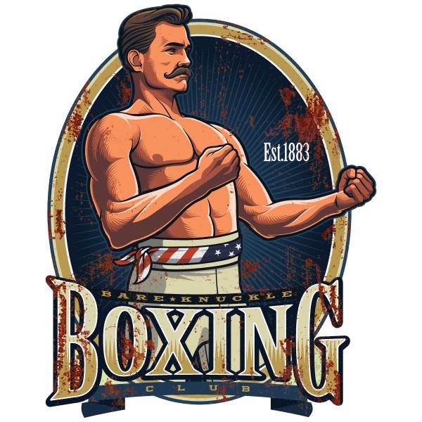 Geprägtes Blechschild Boxing MP103