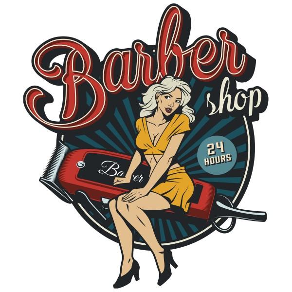 Geprägtes Blechschild Barber Shop MP113