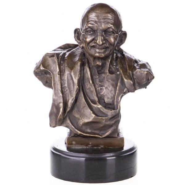 Bronzefigur Büste Mahatma Gandhi YB559