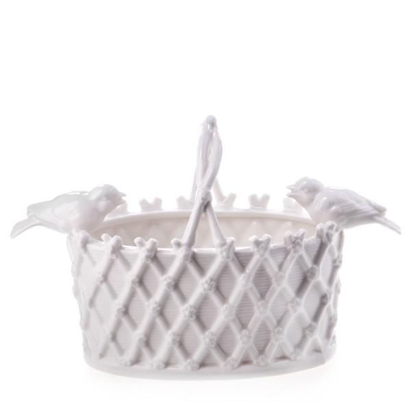 Keramik Korb mit Vögeln PC1017