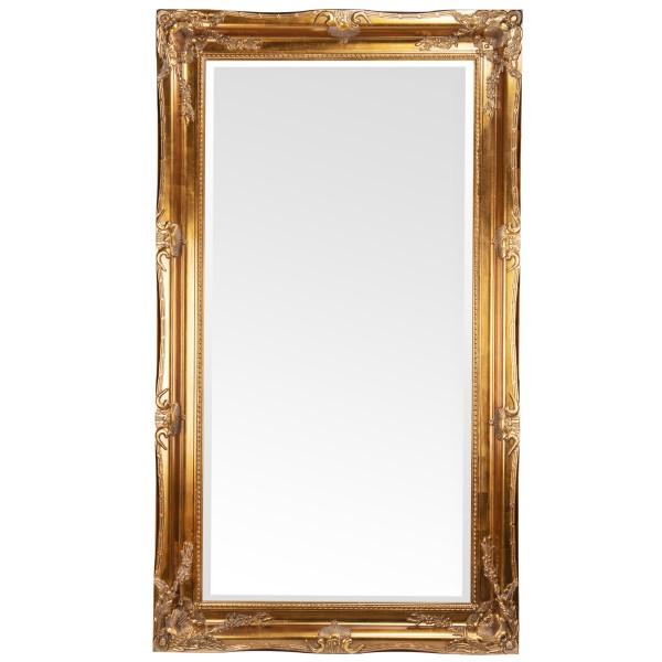 Barockspiegel mit Holzrahmen und Spiegel mit Facettenschliff SP1082