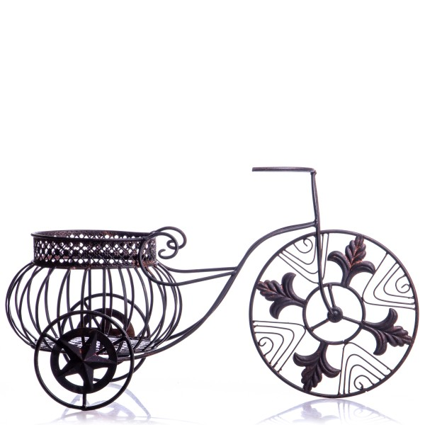 Metall Blumenkorb Dreirad WK060714AB