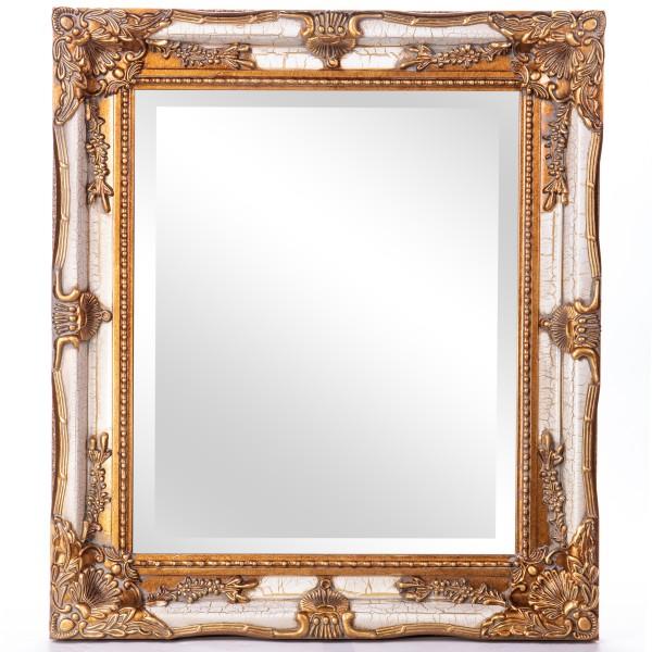 Barockspiegel mit Holzrahmen und Spiegel mit Facettenschliff SP1130