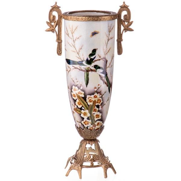 Porzellan mit Bronze Vase HM6118