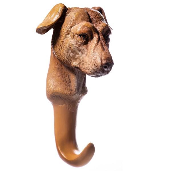 Wandhaken Hund handbemalte Polyresinfigur QP102