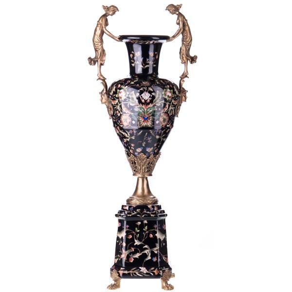 Porzellan mit Bronze Vase HM5490