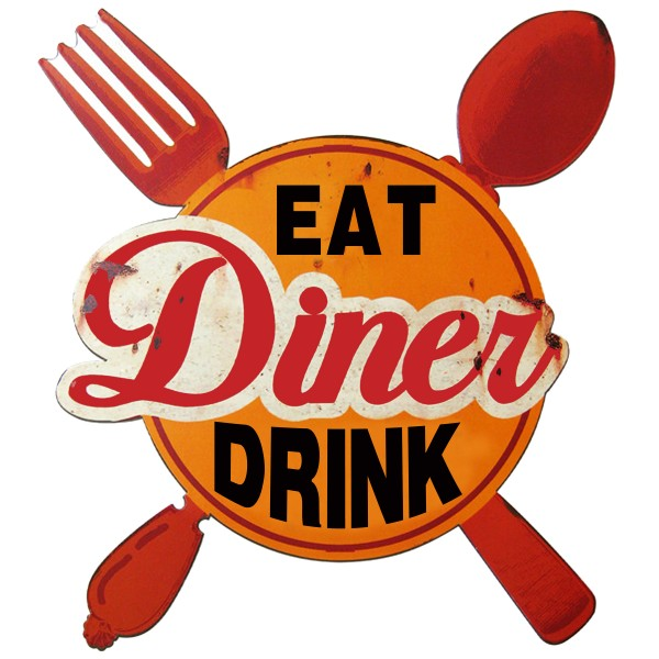 Geprägtes Blechschild Diner Eat Drink MP110