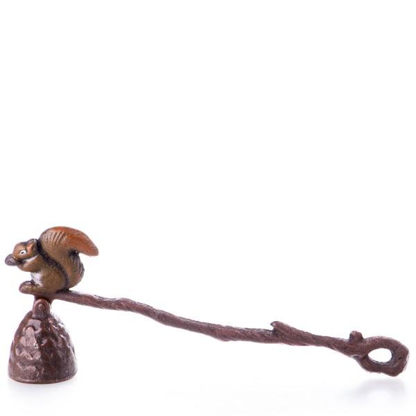 Gusseisen Kerzenlöscher mit Eichhörnchen GU123
