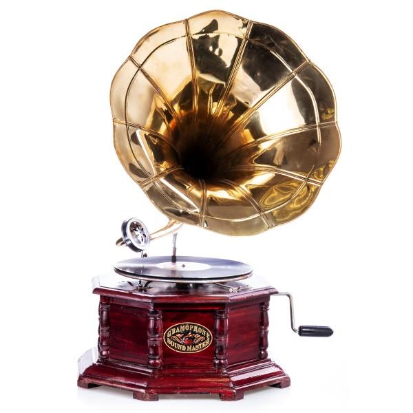 Grammofon mit Mechanischem Motor R01