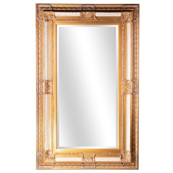 Barockspiegel mit Holzrahmen und Spiegel mit Facettenschliff SP1003
