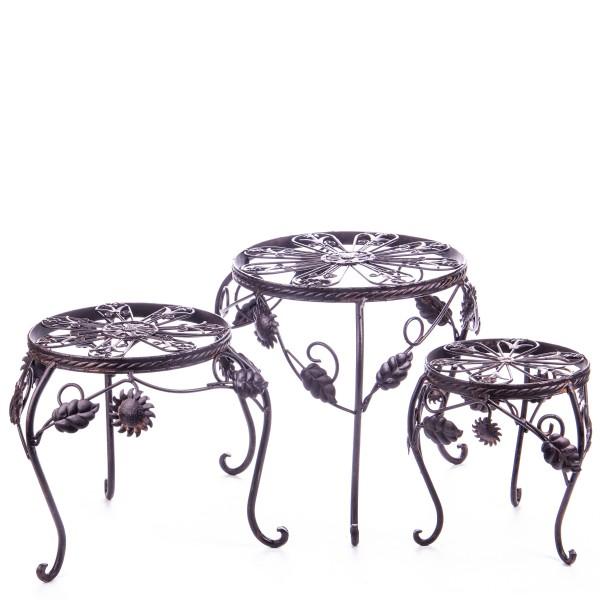 Metall Blumenhocker Set/3 WK060147AB