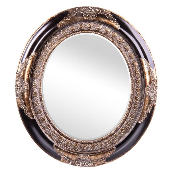 Barockspiegel mit Holzrahmen und Spiegel mit Facettenschliff SP1010