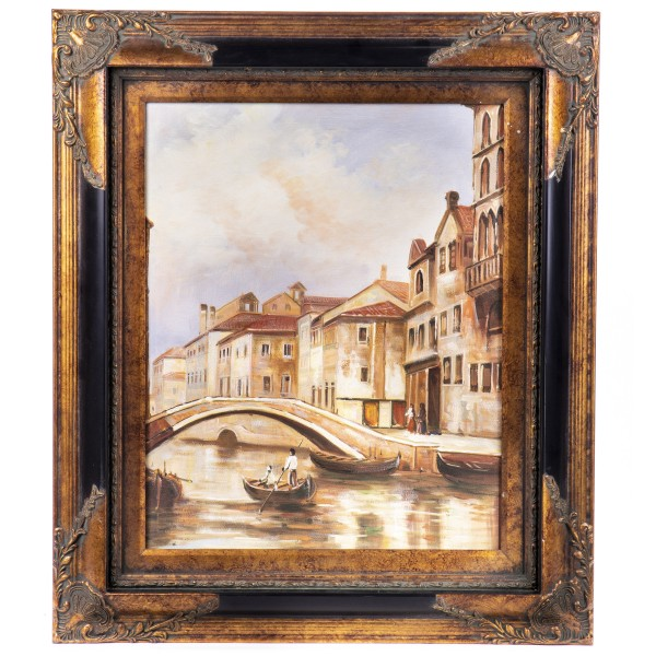 """Ölgemälde mit Rahmen """"Venedig"""" GE1212-40x50"""