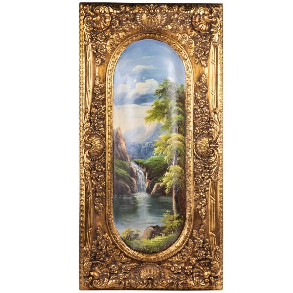 Wandornament aus Polyresin mit Gemälde LT175