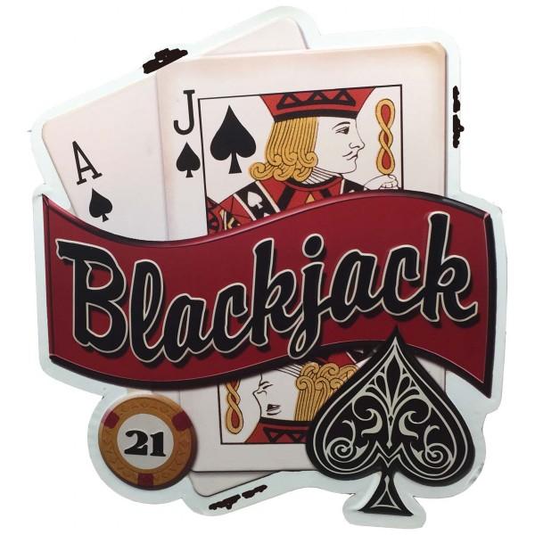 "Geprägtes Blechschild ""Blackjack"" MP119"