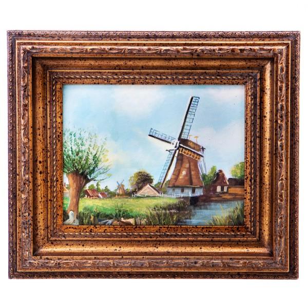 "Ölgemälde mit Rahmen ""Windmühle"" UN1048"