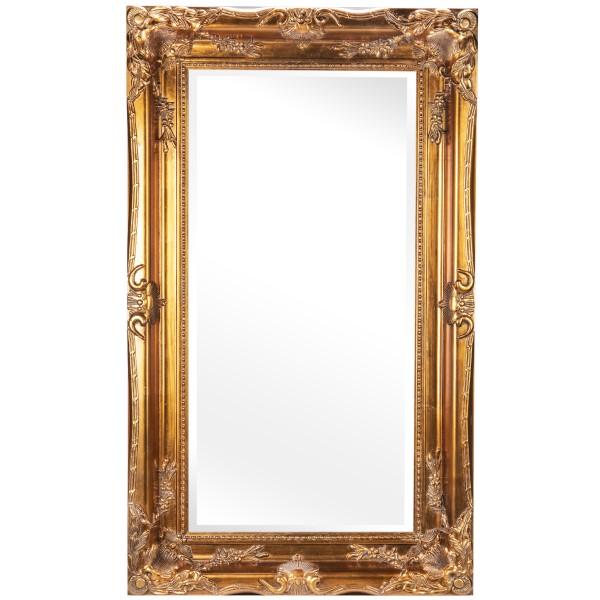 Barockspiegel mit Holzrahmen und Spiegel mit Facettenschliff SP1246