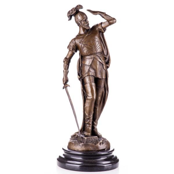 Bronzefigur des Francisco Pizarro in Ritterrüstung YB450