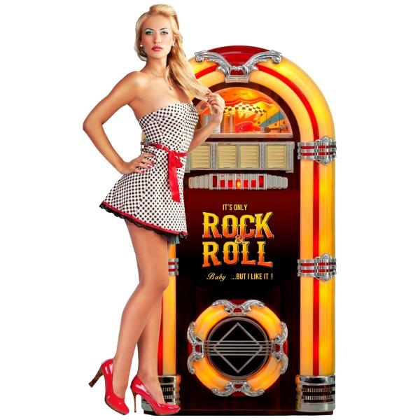 Geprägtes Blechschild Rock & Roll Musicbox MP109