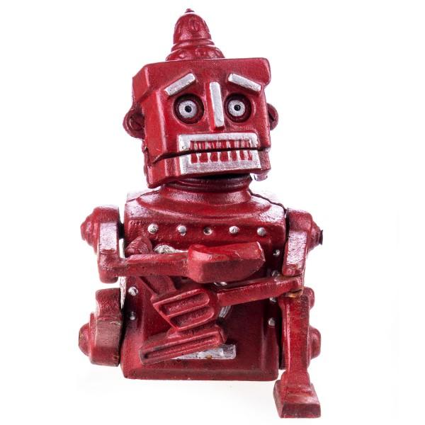 Mechanische Gusseisen Spardose Roboter GU060