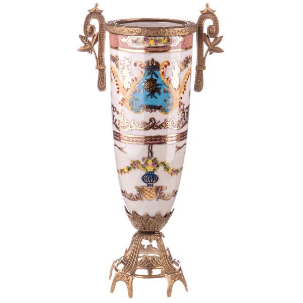 Porzellan mit Bronze Vase HM6117