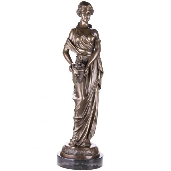 Bronzefigur Frau in Tunikagewand YB551