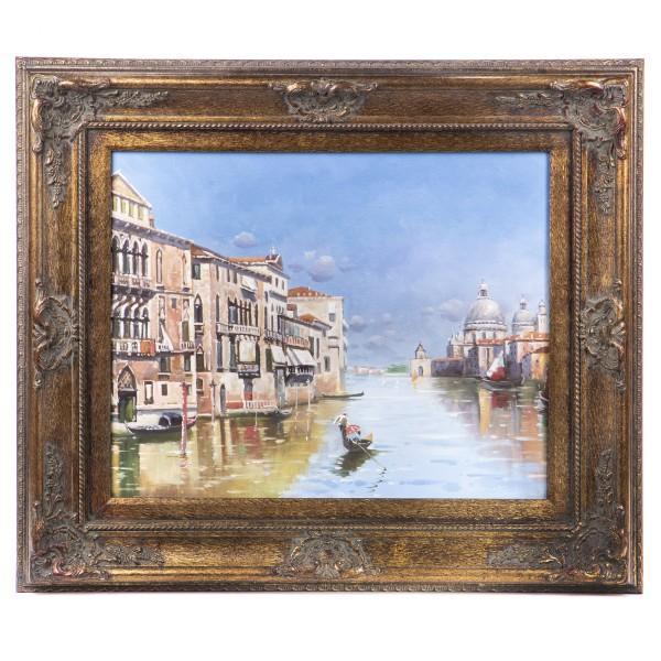 """Ölgemälde mit Rahmen """"Venedig"""" GE1201-40x50"""