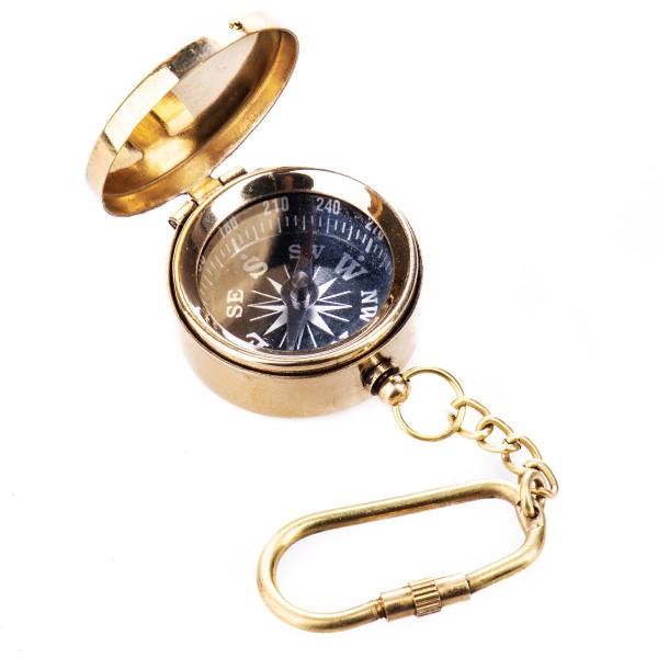 Messing Schlüsselanhänger Kompass N412-G