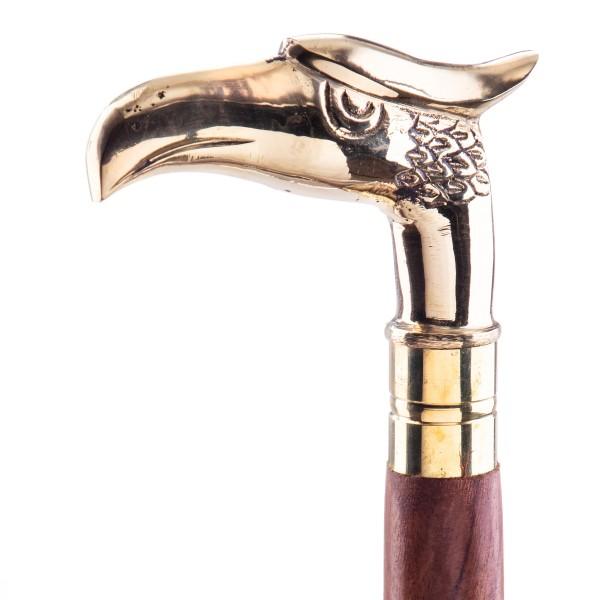 Gehstock mit Messingknauf in Form eines Adlers B41