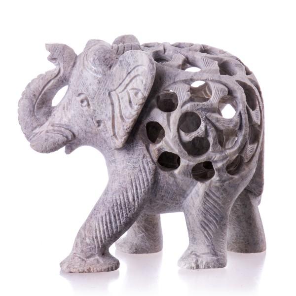 Elefant Handgemeißelt aus Stein DN2