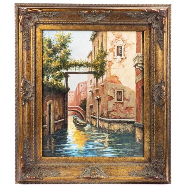 """Ölgemälde mit Rahmen """"Venedig"""" GE1202-40x50"""