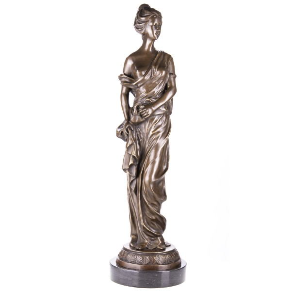 Bronzefigur Frau in Tunikagewand YB552