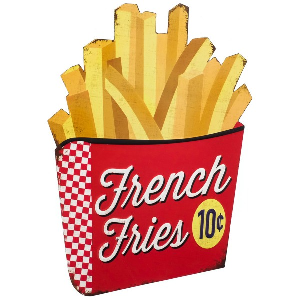Geprägtes Blechschild French Fries MP102
