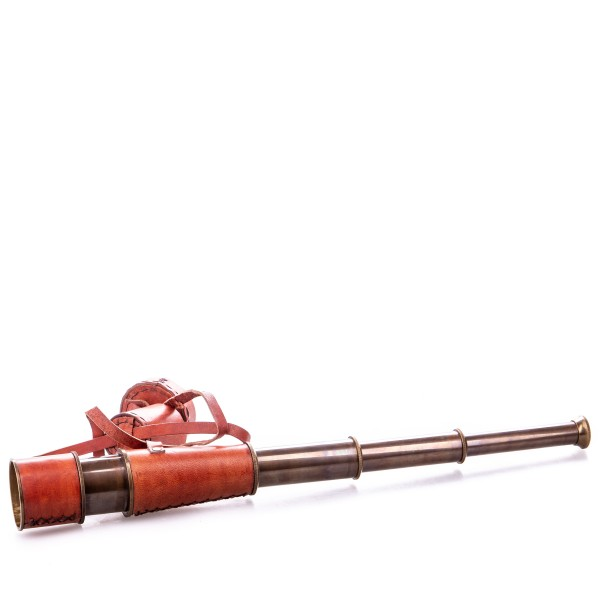 Messing Fernrohr mit Holzbox WA-01
