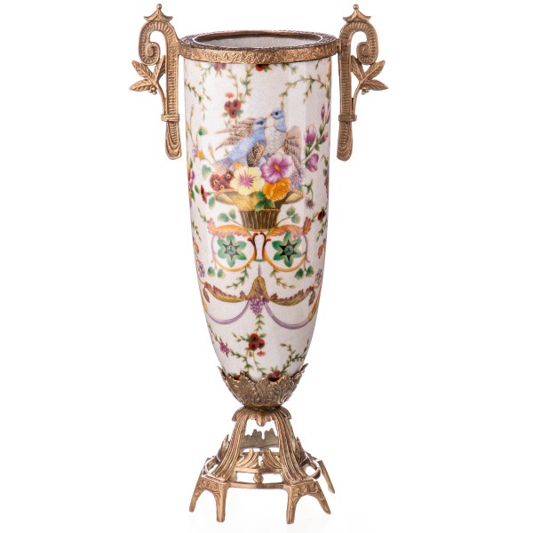 Porzellan mit Bronze Art Deco Vase HM6116