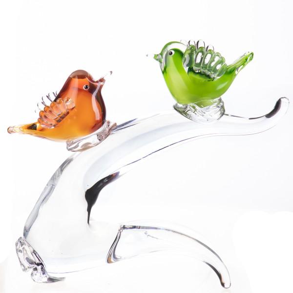 Murano-Stil Glas Vögel auf Ast GL1266