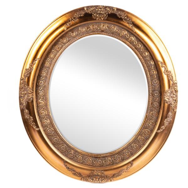 Barockspiegel mit Holzrahmen und Spiegel mit Facettenschliff SP1009