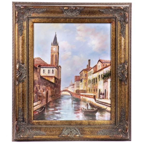 """Ölgemälde mit Rahmen """"Venedig"""" GE1206-40x50"""