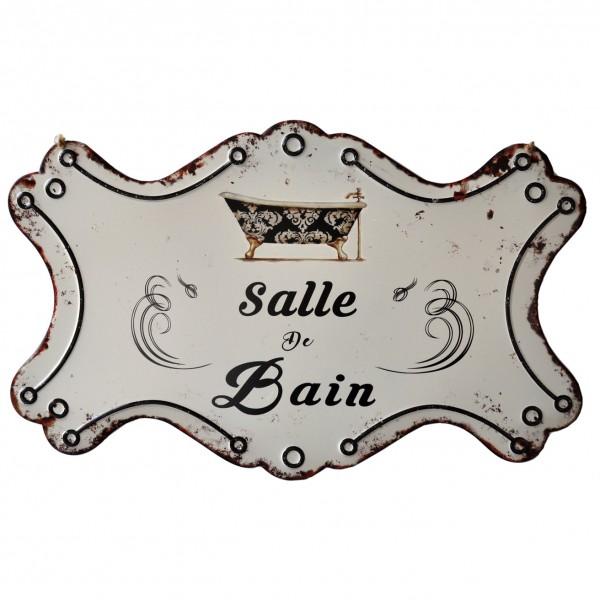 """Geprägtes Blechschild """"Salle de Bain"""" MP129"""