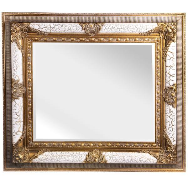 Barockspiegel mit Holzrahmen und Spiegel mit Facettenschliff SP1127