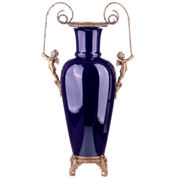 Porzellan mit Bronze Vase mit Engeln HM6121