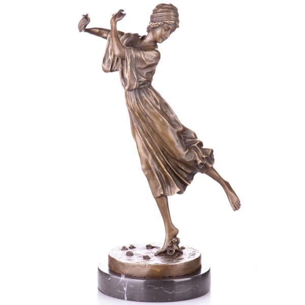 """Art Deco Bronzefigur Tänzerin """"Dancing Girl"""" nach P.Philippe YB575"""