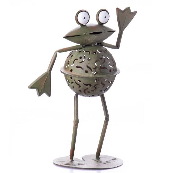 Metall Teelichthalter Frosch SWA-0368
