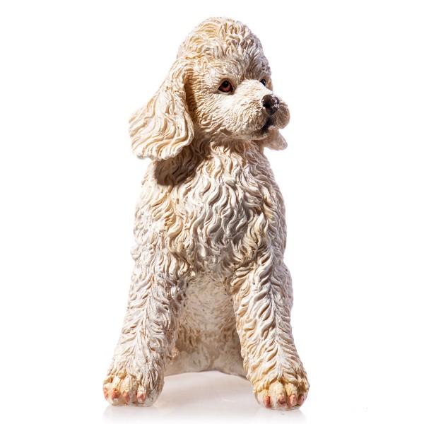 Hund handbemalte Polyresinfigur QP104