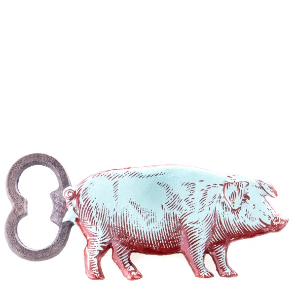 Gusseisen Flaschenöffner Schwein GU118
