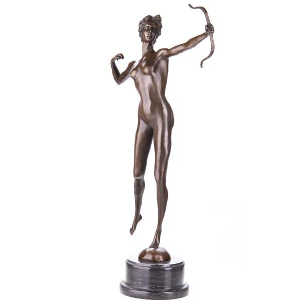 Bronzefigur Diana Göttin der Jagd mit Bogen YB574