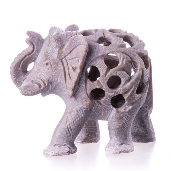 Elefant Handgemeißelt aus Stein DN1