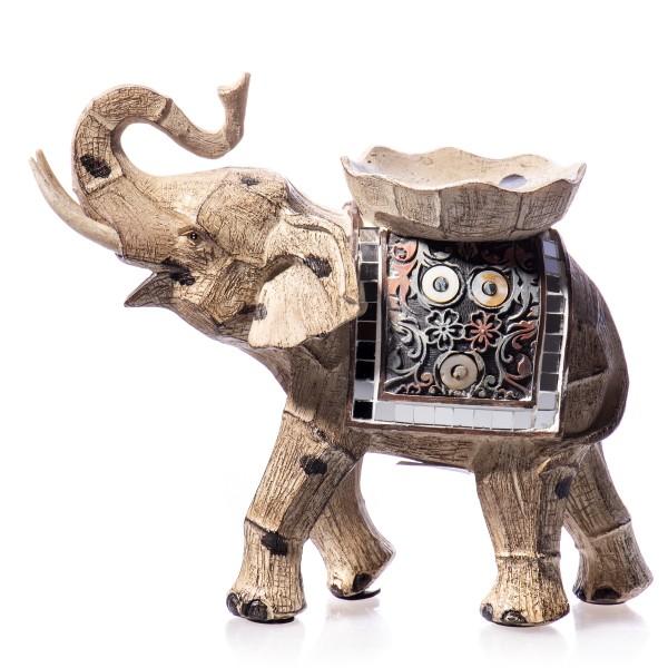 Elefant Kerzenständer handbemalte Polyresinfigur DT212