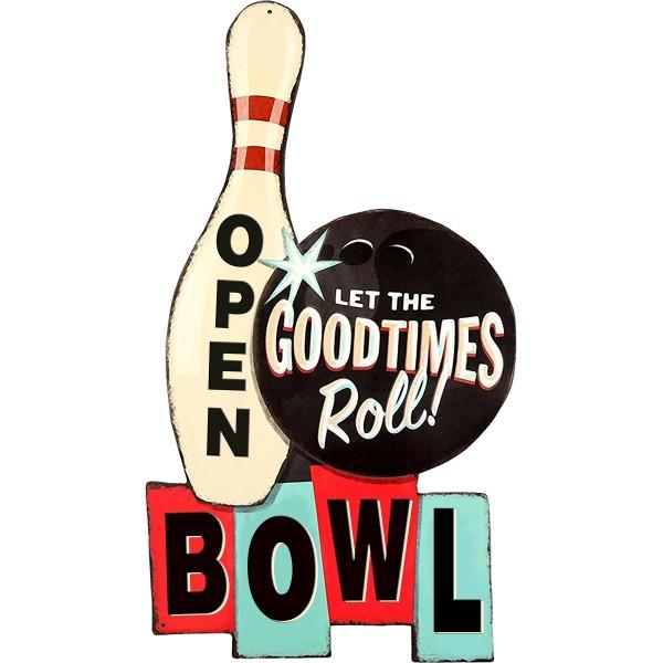 Geprägtes Blechschild Bowling MP126