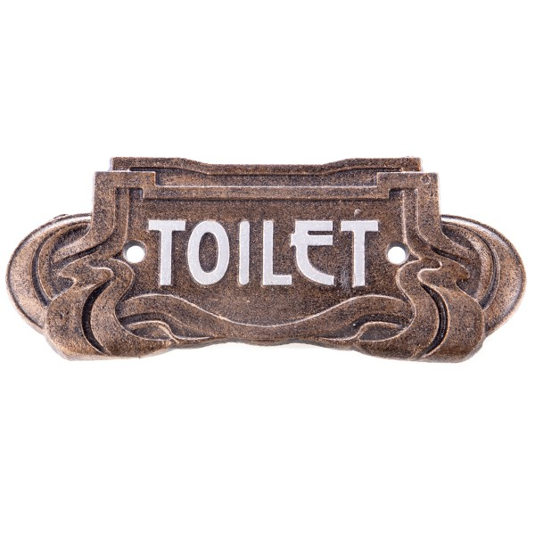 """Jugendstil Gusseisen Türschild """"Toilet"""" GU119"""
